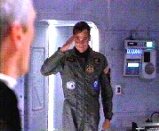 Hawkes saluting the Col.